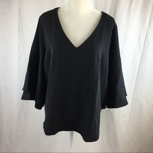 Lane Bryant 3/4 Layered Bell Sleeve Top